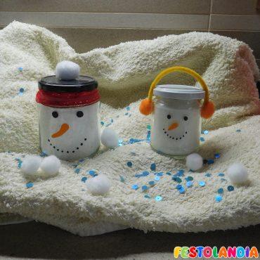 Pupazzi di neve… in barattolo!